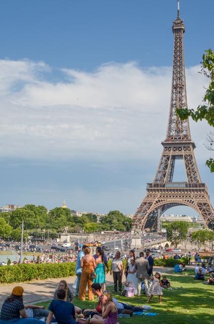 Oeffentlicher Raum Eiffelturm Paris Frankreich